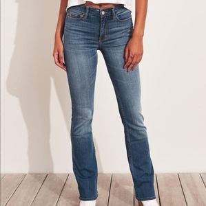 Hollister mid rise boot cut jeans